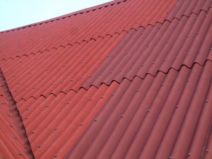 крыша покрытая листами ондулина