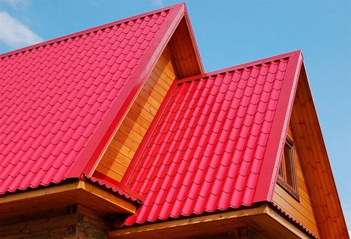 крыша из листов металлочерепицы
