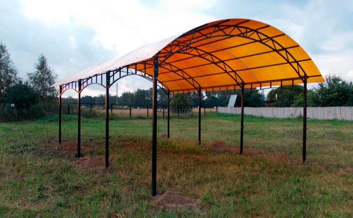 металлическая ферма для навесов