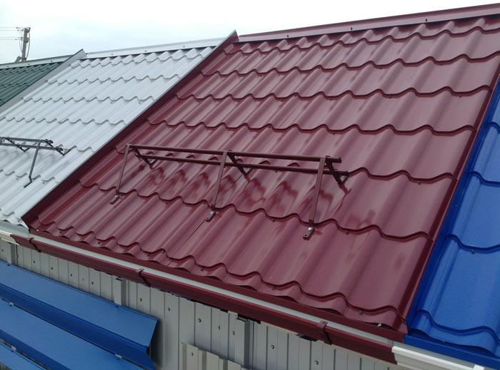 металлочерепица монтеррей на крыше