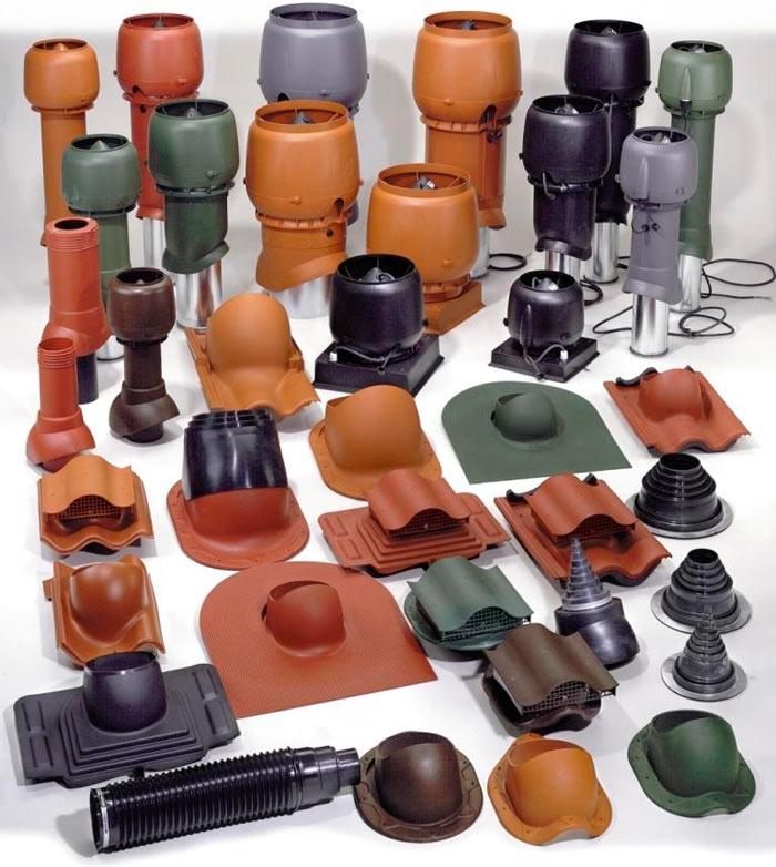 разновидности вентиляционных выходов для металлочерепицы