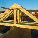стропила для крыши двухскатного типа - миниатюра