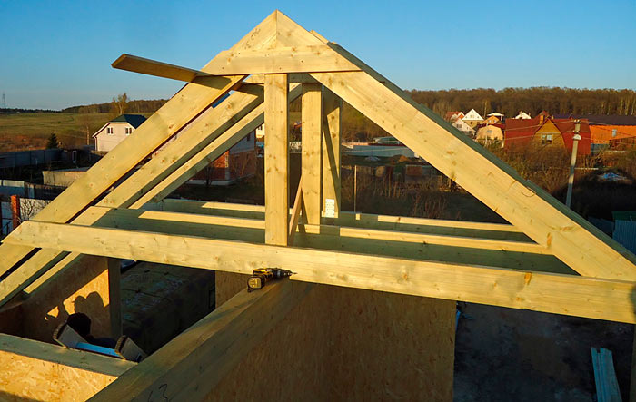 стропила для крыши двухскатного типа