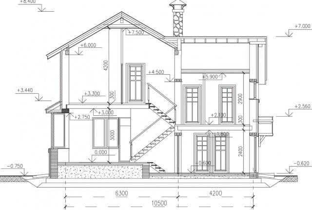 схема дома со вторым этажом