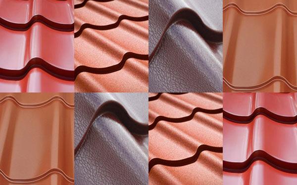 виды полимерных покрытий металлочерепицы
