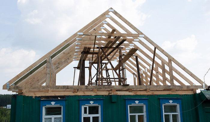Как разметить стропила двухскатной крыши