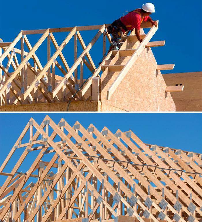 Изготовление стропил двускатной крыши